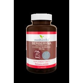 Medverita, Berberyna ekstrakt 98% z korzenia berberysu, 120 kapsułek