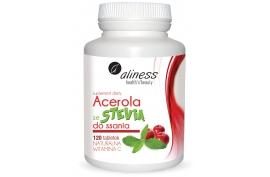 Acerola ze stevia do ssania, 125 mg, 120 tabl., Aliness