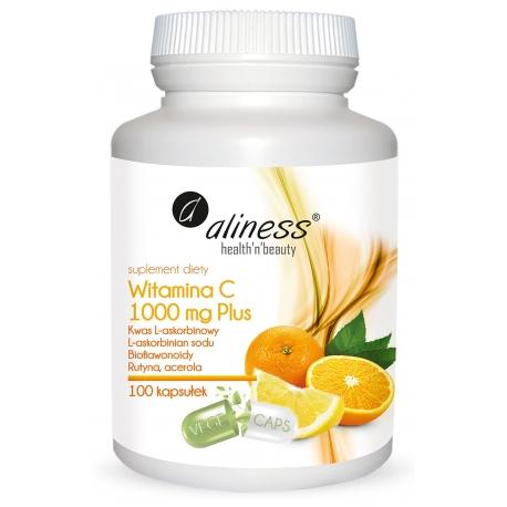 Witamina C 1000 mg Plus, 100 kaps. wegańskich, Alliness