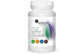 Cynk organiczny TRIO 15 mg 100 tabletek, Aliness