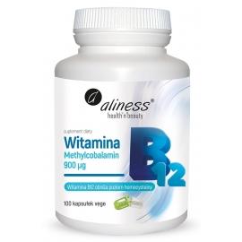 Witamina B12 (metylokobalamina) 100 kapsułek, Aliness