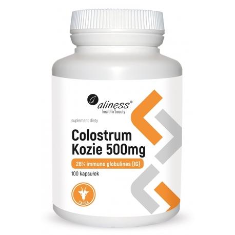 Colostrum Kozie IG 28% 500 mg 100 kapsułek, Aliness