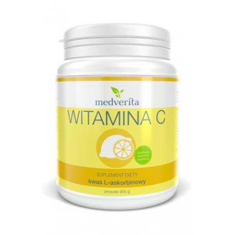 Medverita, Witamina C kwas askorbinowy, proszek 900 g