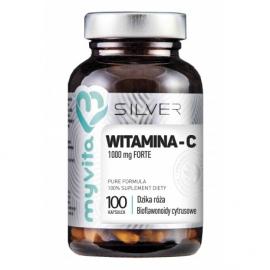Witamina C FORTE z bioflawonoidami i ekstraktem z dzikiej róży MyVita Silver 100 kaps.