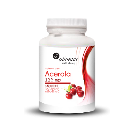 Acerola 125 mg, 120 tabletek Alliness