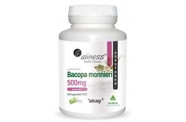 Bacopa monnieri extract 50%, 500 mg 100 kapsułek, Aliness