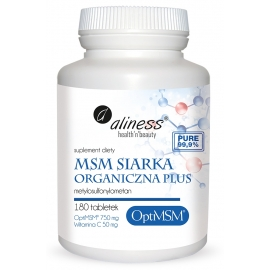 MSM Siarka Organiczna PLUS 180 tabletek, Aliness