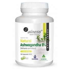 Natural Ashwagandha 590 mg 9%, 100 kapsułek, Aliness