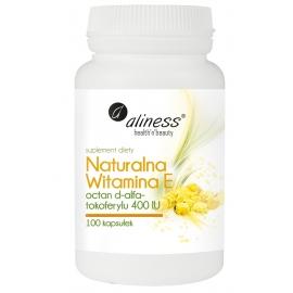 Naturalna Witamina E, 100 kapsułek, Aliness